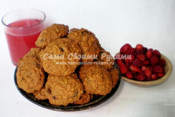 Как приготовить овсяное печенье с финиками и медом