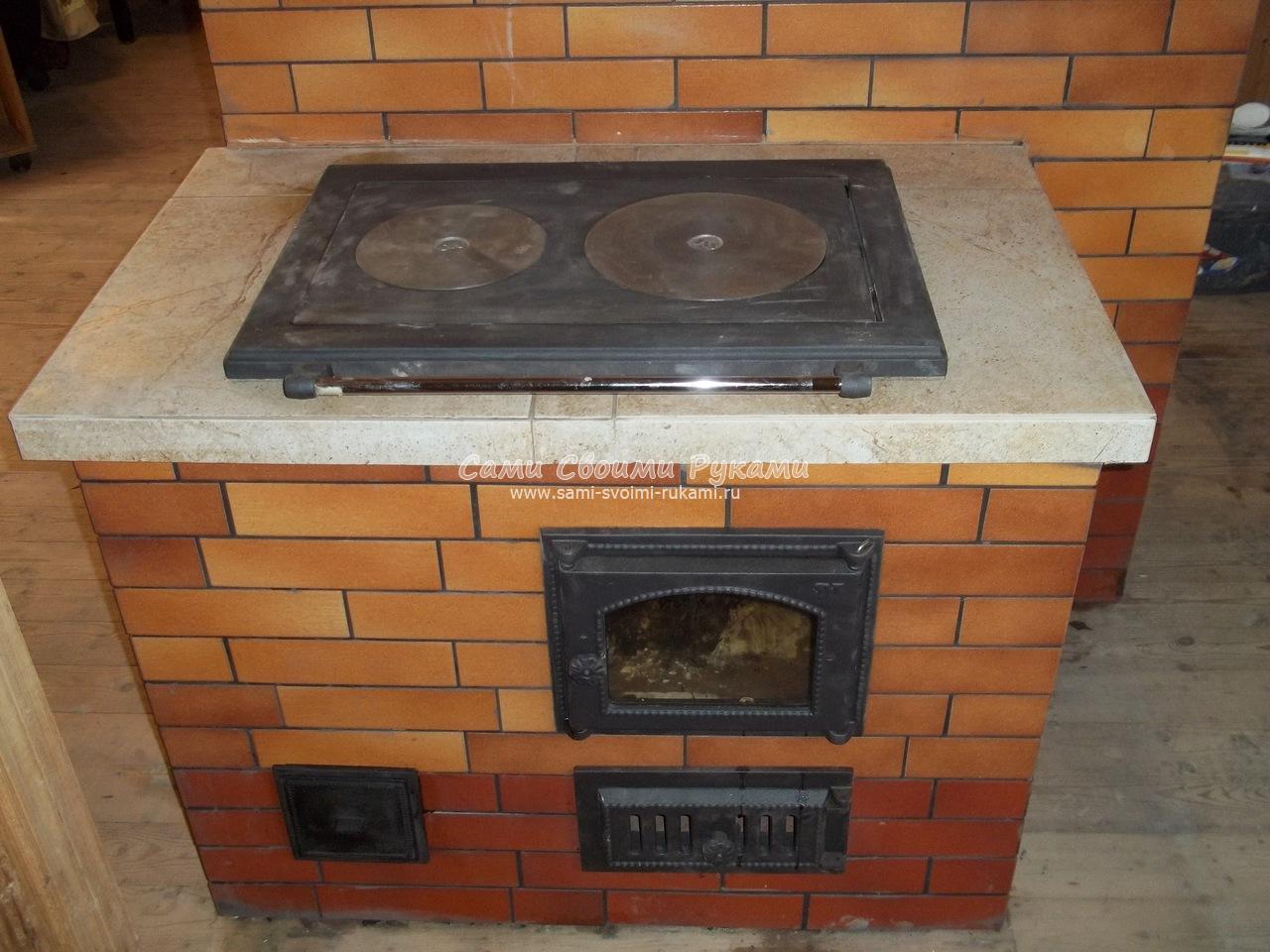 Кухонные плиты из кирпича своими руками