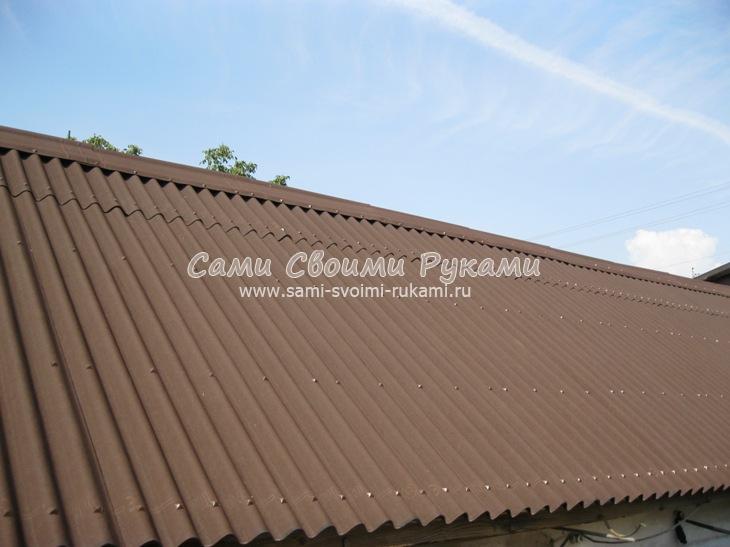 Покрыть ломаную крышу ондулином своими руками