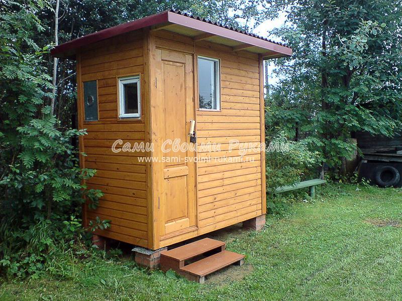 Как построить капитальный летний душ в домике