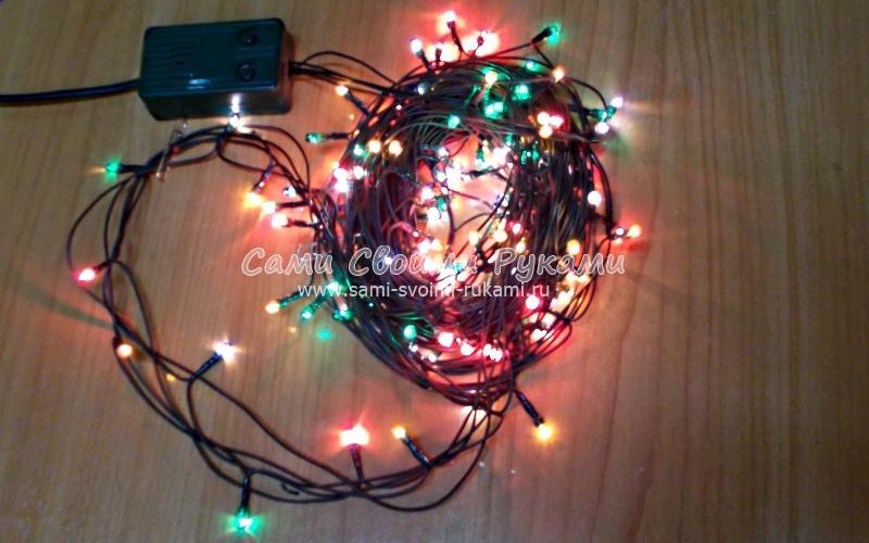 Как отремонтировать новогоднюю гирлянду