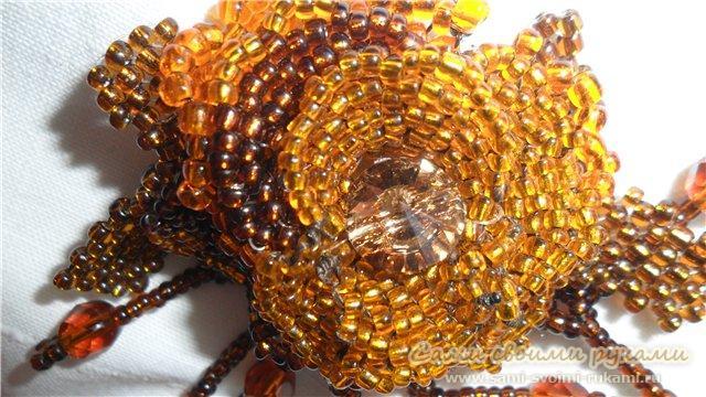 цветы из бисера, схемы плетения.