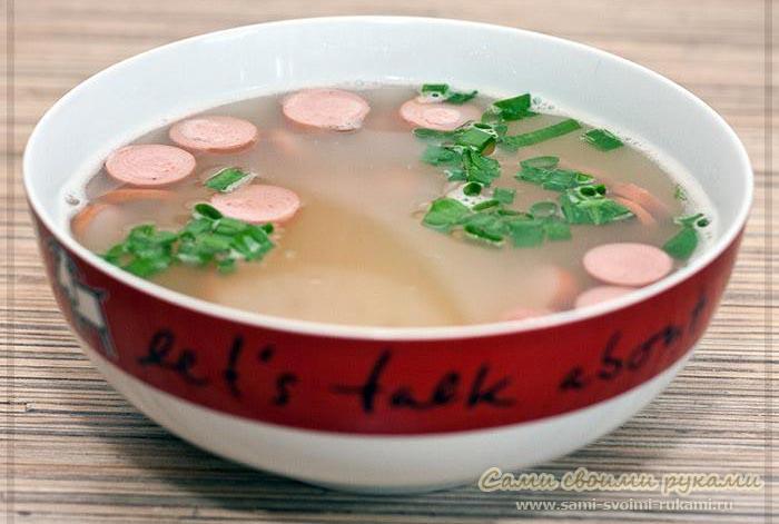 рецепт вкусного супа с копченостями