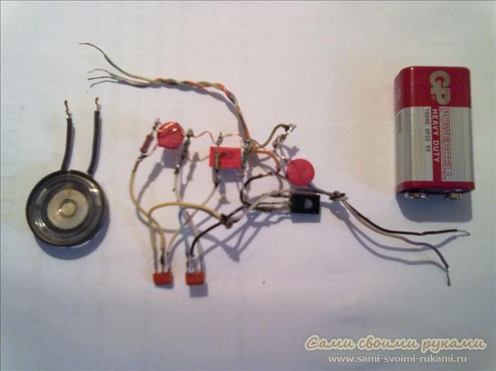 Электрическая схема ультразвукового отпугивателя грызунов.