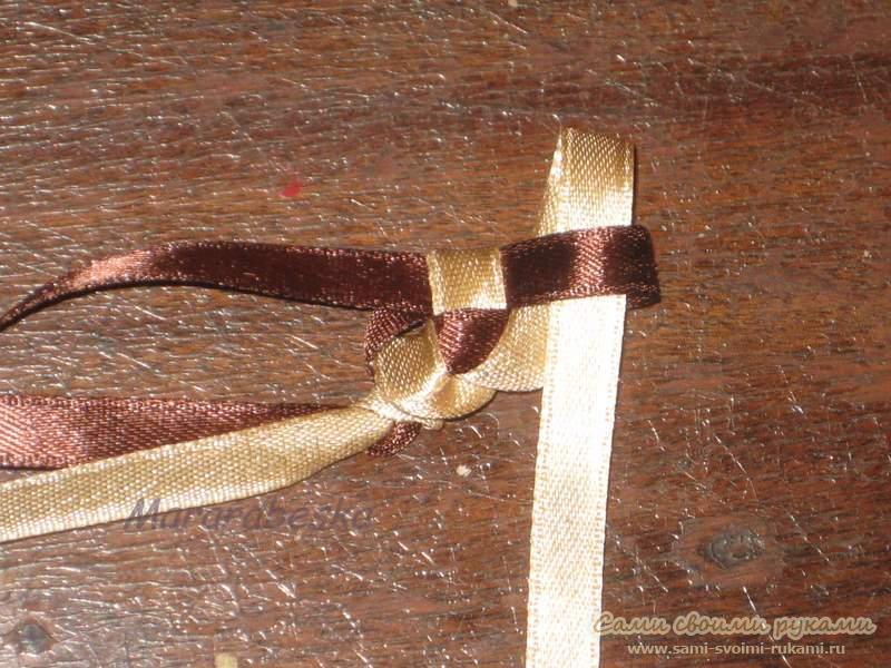 Плетение фенечек из атласных лент - Делаем фенечки своими руками.