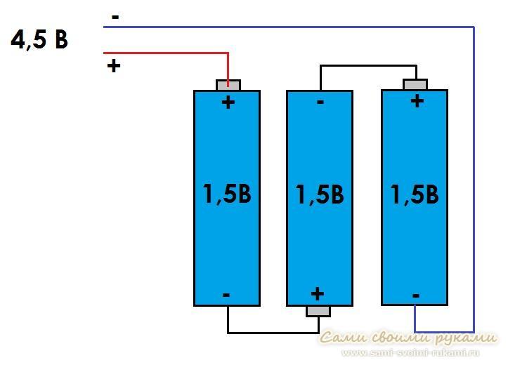 Схема батареек фото