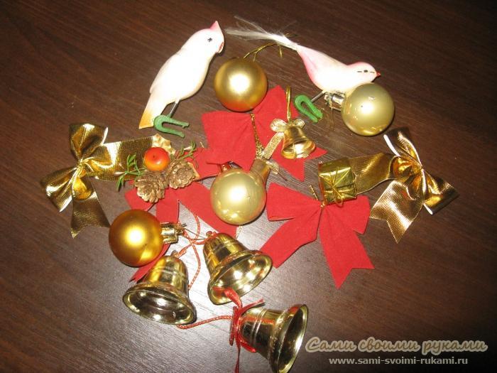 Как сделать рождественский венок своими руками мастер