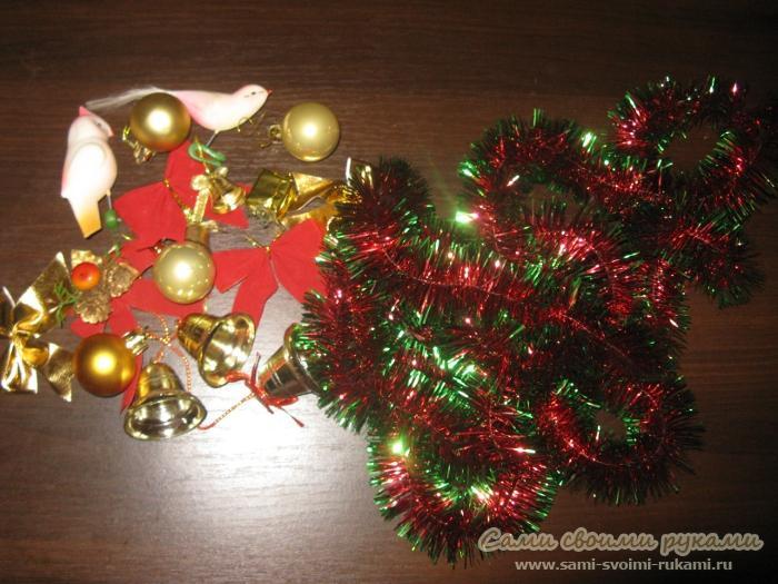 Мастер класс как сделать рождественский венок своими