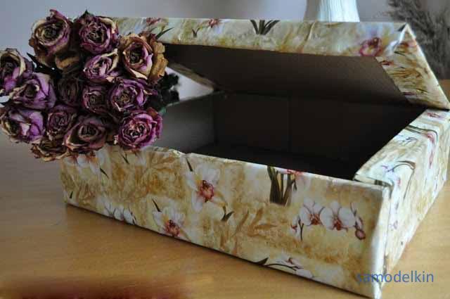 Оборачиваем коробку для подарка