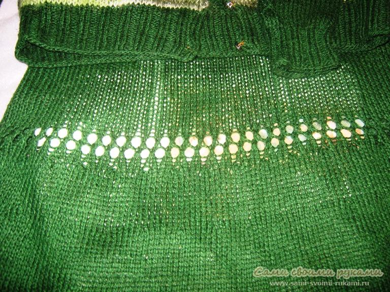 мини юбка спицами.