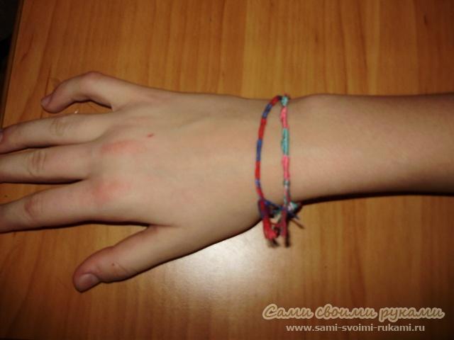 Браслет из нитей, как сделать - схема плетения, фото Сами своими руками.