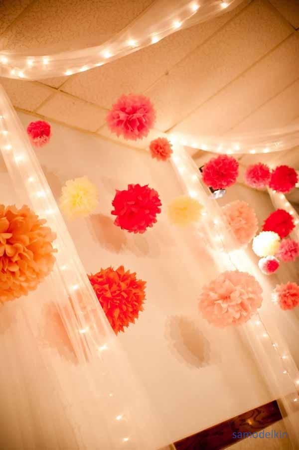 Праздничные украшения на свадьбу своими руками