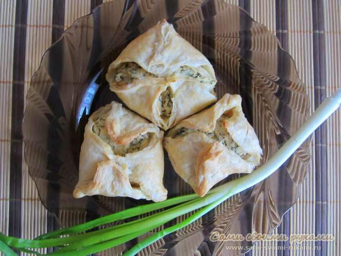 Конвертики из лаваша с зеленью и сыром рецепт 6