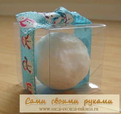 Делаем Снежки из мыла - подарок на Новый год