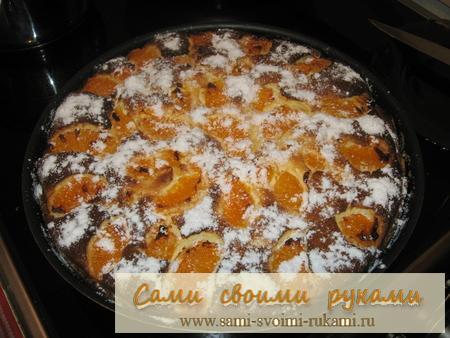 Творожный пирог с мандаринами рецепт с фото