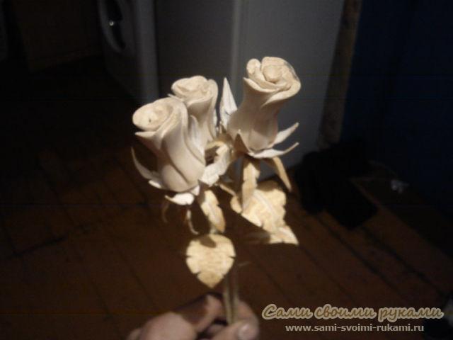 Роза из дерева своими руками видео