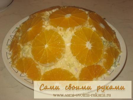 Салат Изумительный - рецепт с апельсинами