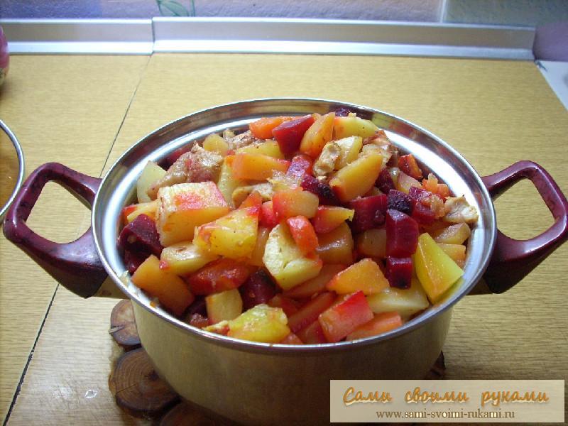 Овощи запеченные в рукаве