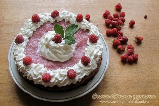 Малиновый торт - рецепт с фото