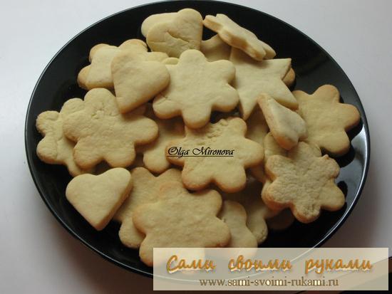 Печенье сахарное - рецепт