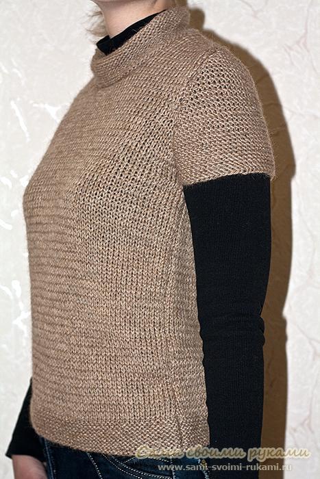 Простой жилет - вяжем спицами