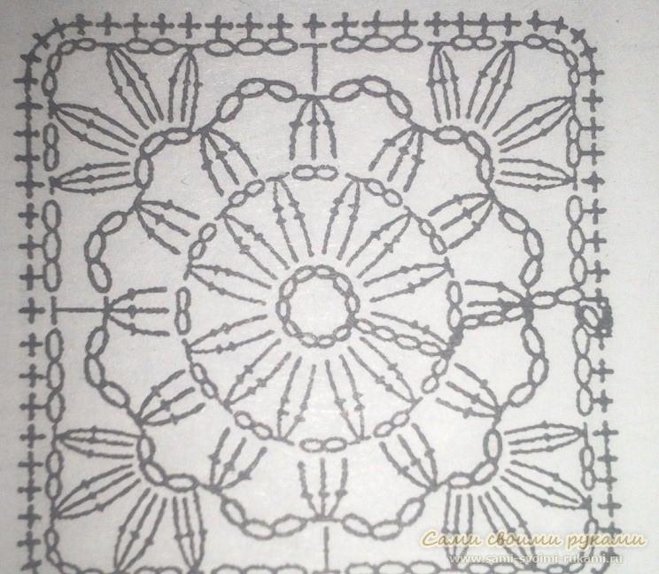 Схема вязания крючком наволочки