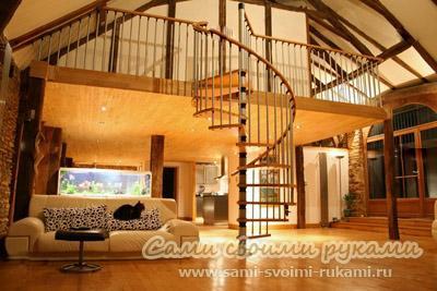 Винтовая лестница своими руками - как сделать и организовать пространство
