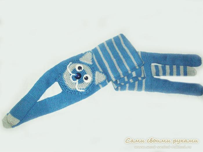Котошарф - фото и схема вязания фотошарфа