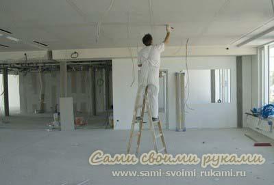 Делаем ремонт потолка своими руками - технология, советы