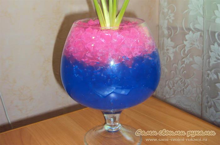 Цветной гидрогель для комнатных растений