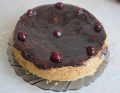 Торт с вишней, как приготовить в мультиварке