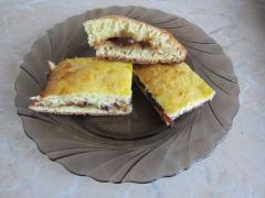 Сливовый пирог, как приготовить из творожного теста - рецепт, фото