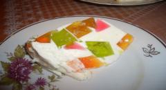 Торт с желе - рецепт с фото