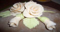 Розы из мастики - как сделать