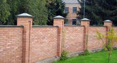 Кирпичный забор своими руками - фундамент, кладка