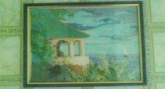 Картина Домик у моря - вышиваем крестиком