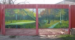 Ворота для дачи своими руками, эксклюзивный вариант (фото)