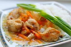 Быстрый ужин (куриное филе с гарниром)