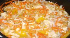 Кальмары в сырном соусе
