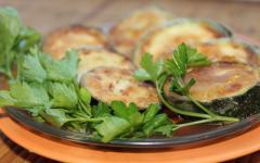 Закуска из кабачков (колечки) - просто и быстро