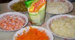 Креветочный салат - рецепт
