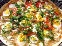 Пицца с яйцом