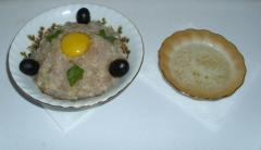 Котлеты из оливок (оливки, овощи, куриное филе)