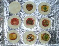 Пирожки овощные (овощи, оливки, имбирь)