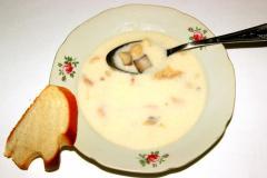 Белый суп с грибами