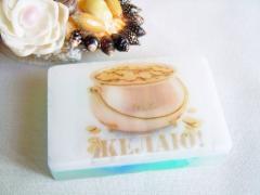 Мыло - открытка на подарок (с цветком)