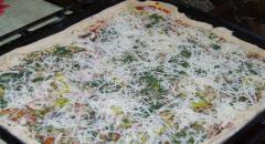 Тонкая вкусная пицца