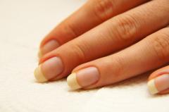 Ногти френч с цветочным рисунком