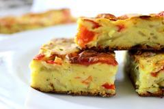 Пирог из кабачков и паприки