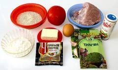 Котлеты с рисом в остром томатном соусе